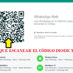 Escanear codigo QR en Whatsapp Web
